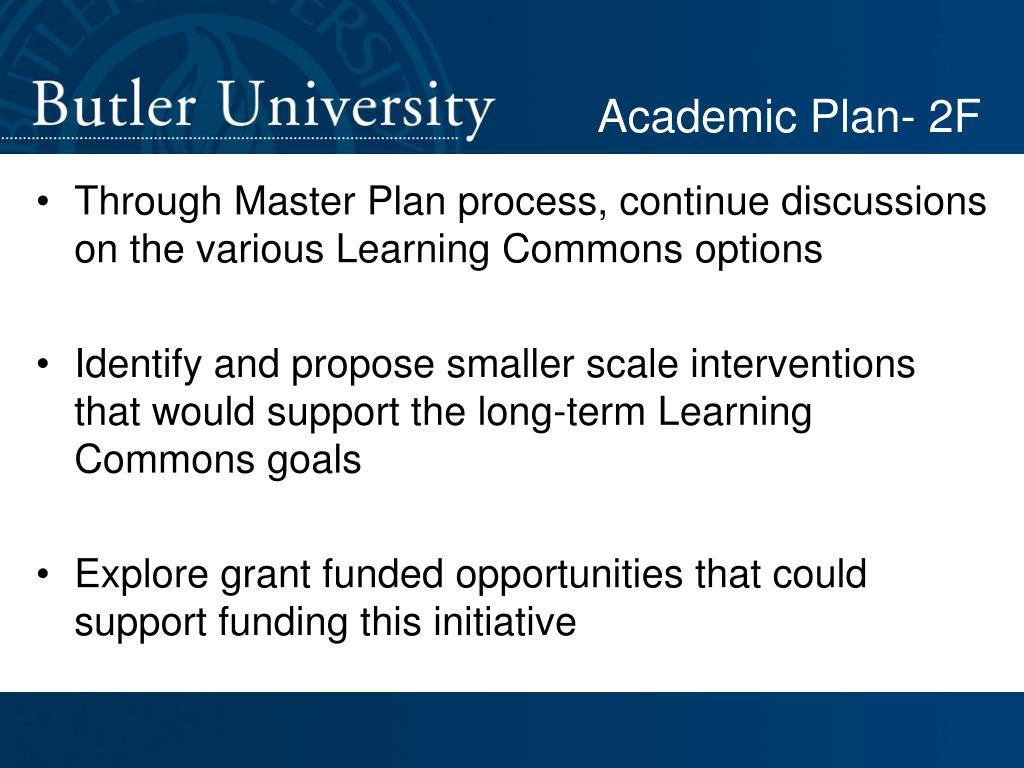 Academic Plan- 2F