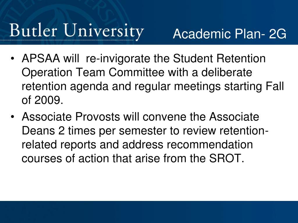 Academic Plan- 2G