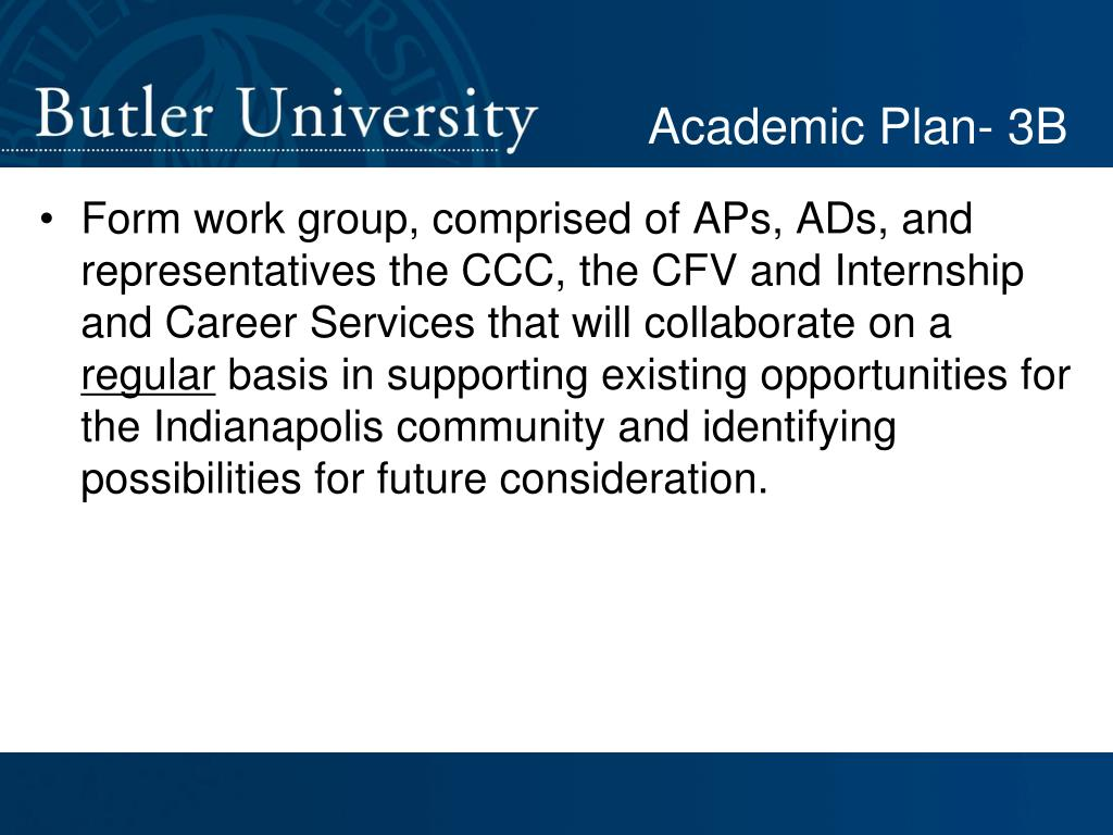 Academic Plan- 3B