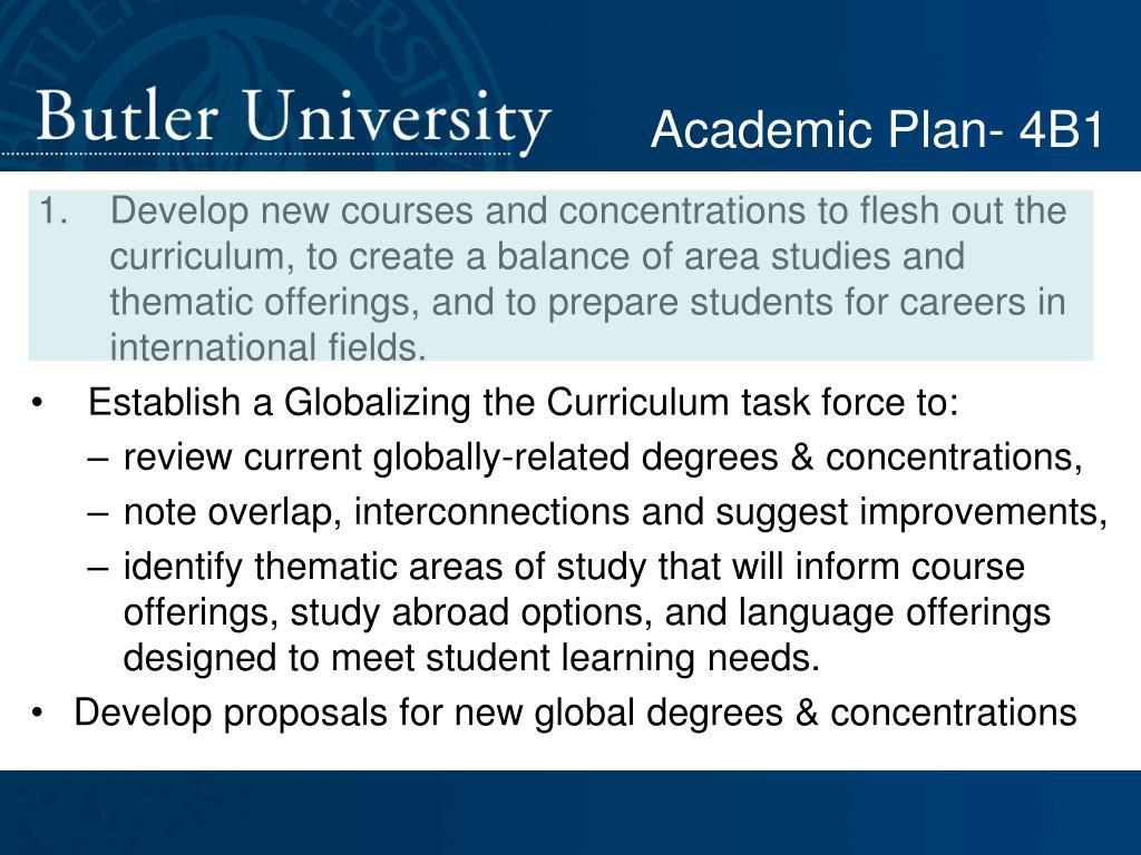 Academic Plan- 4B1