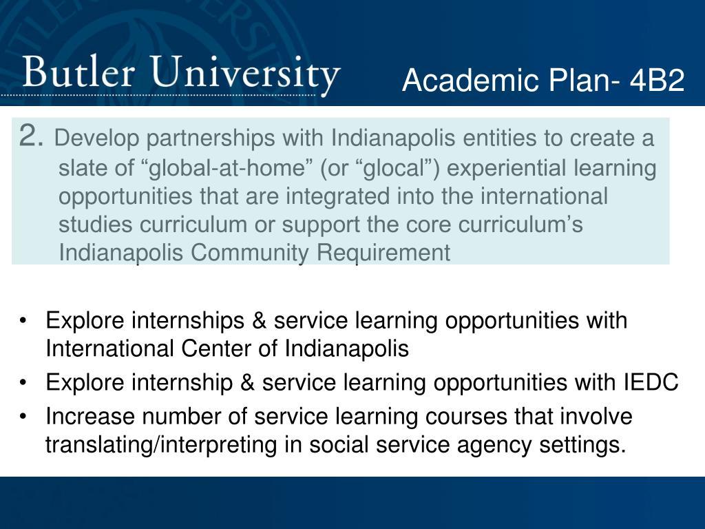 Academic Plan- 4B2