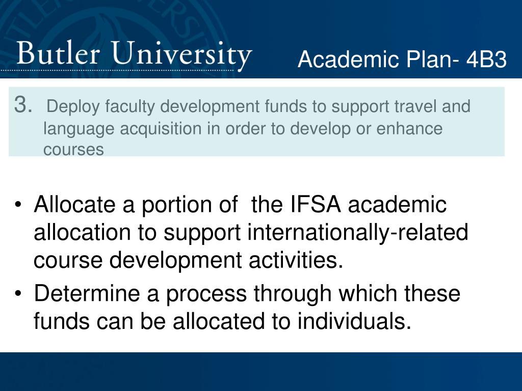 Academic Plan- 4B3