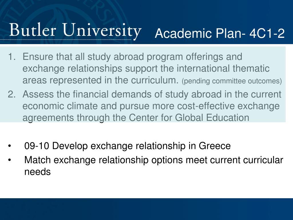 Academic Plan- 4C1-2