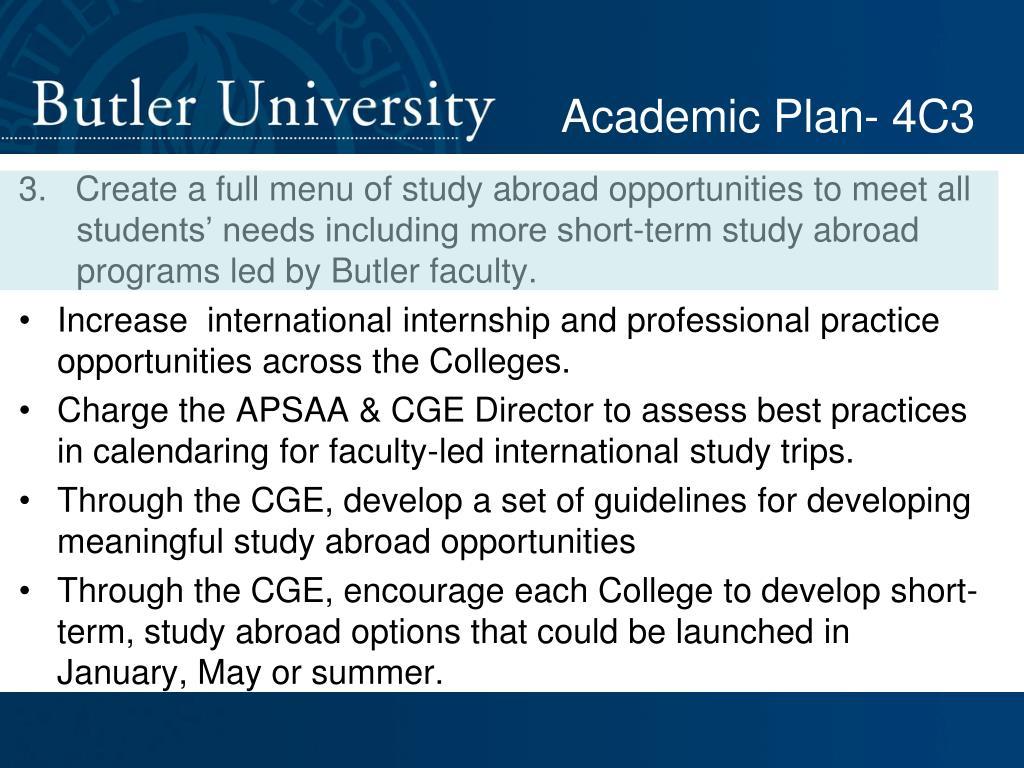 Academic Plan- 4C3