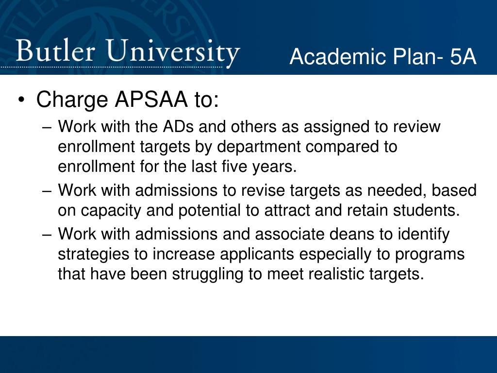 Academic Plan- 5A
