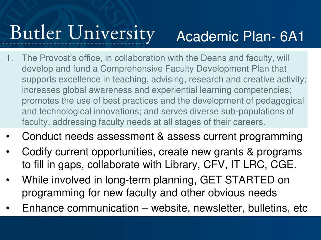 Academic Plan- 6A1