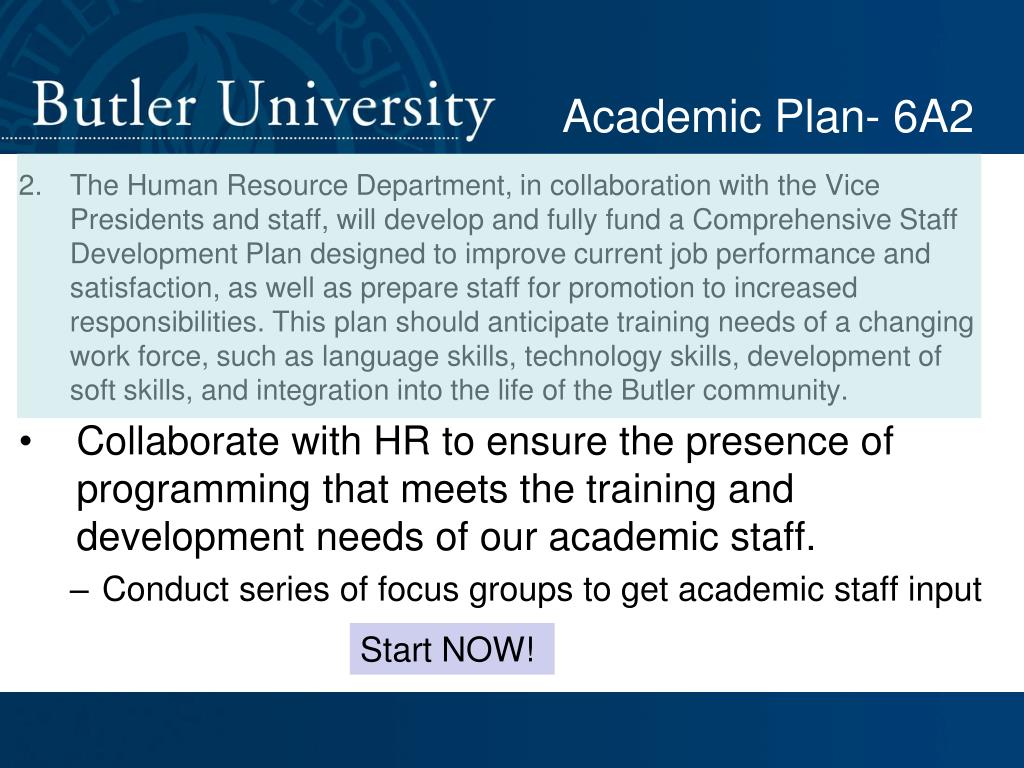 Academic Plan- 6A2
