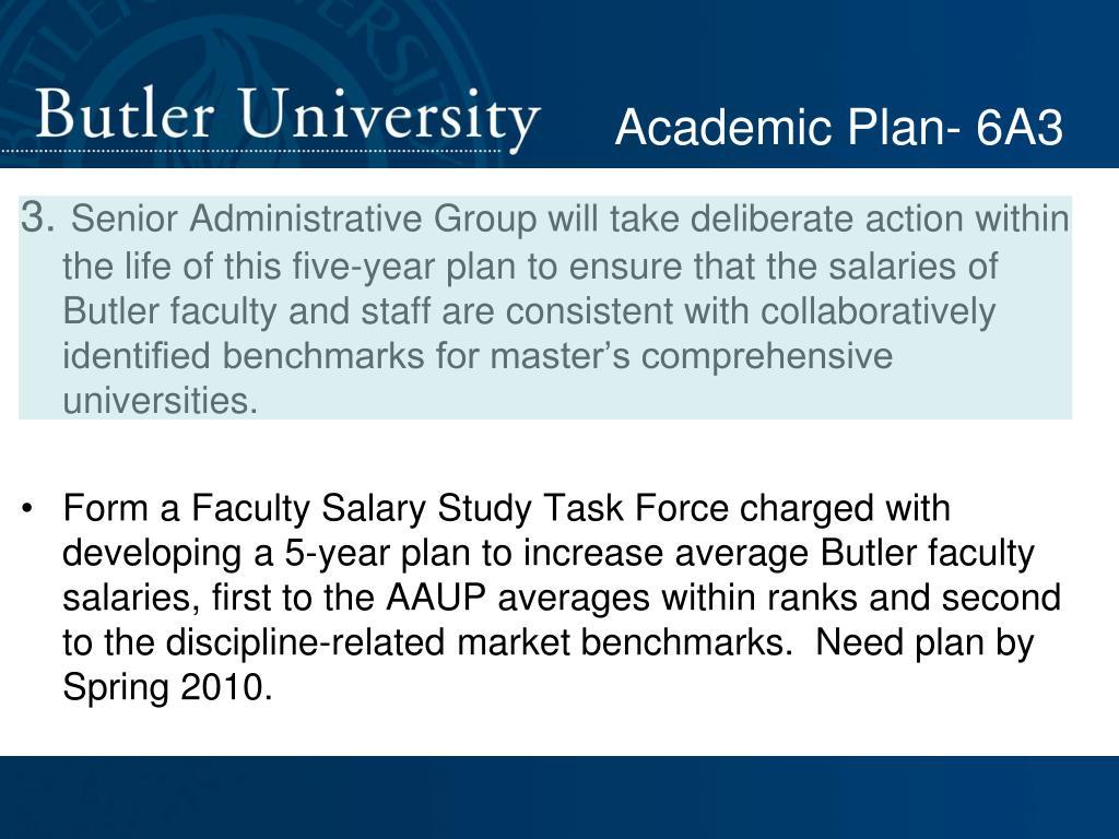 Academic Plan- 6A3