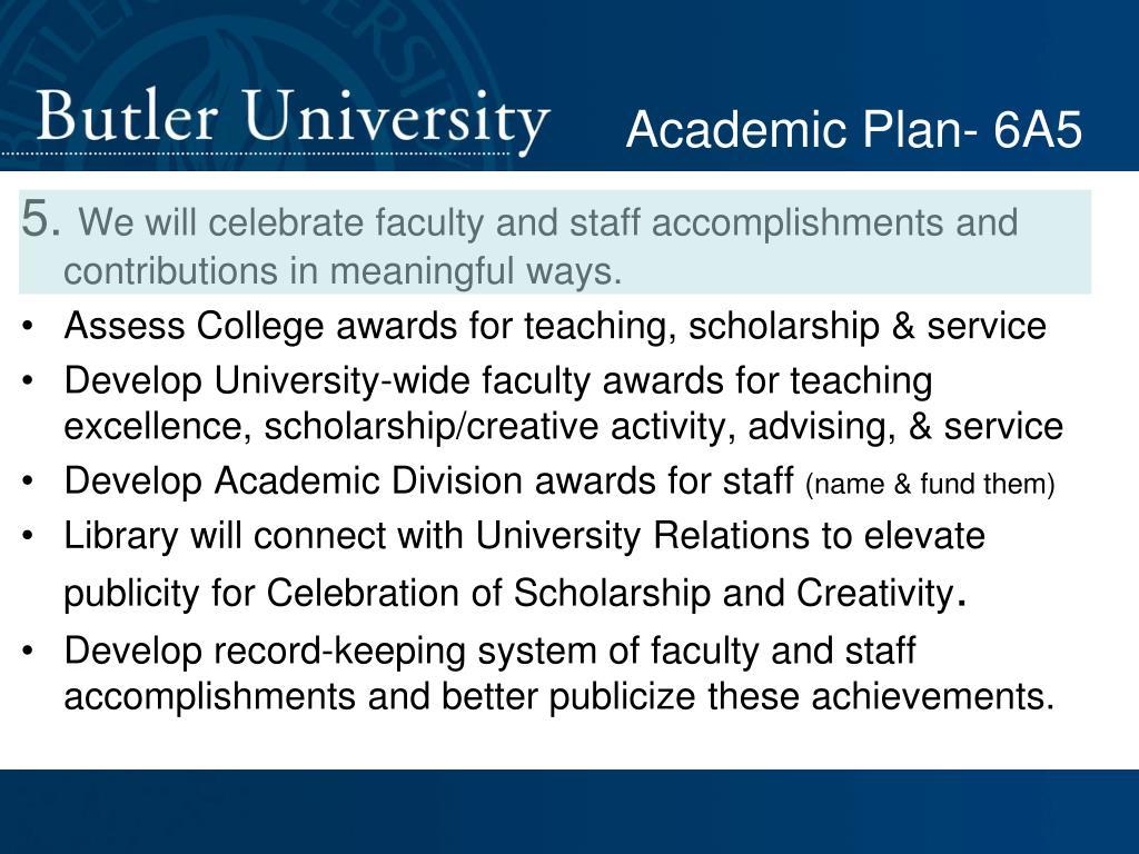 Academic Plan- 6A5