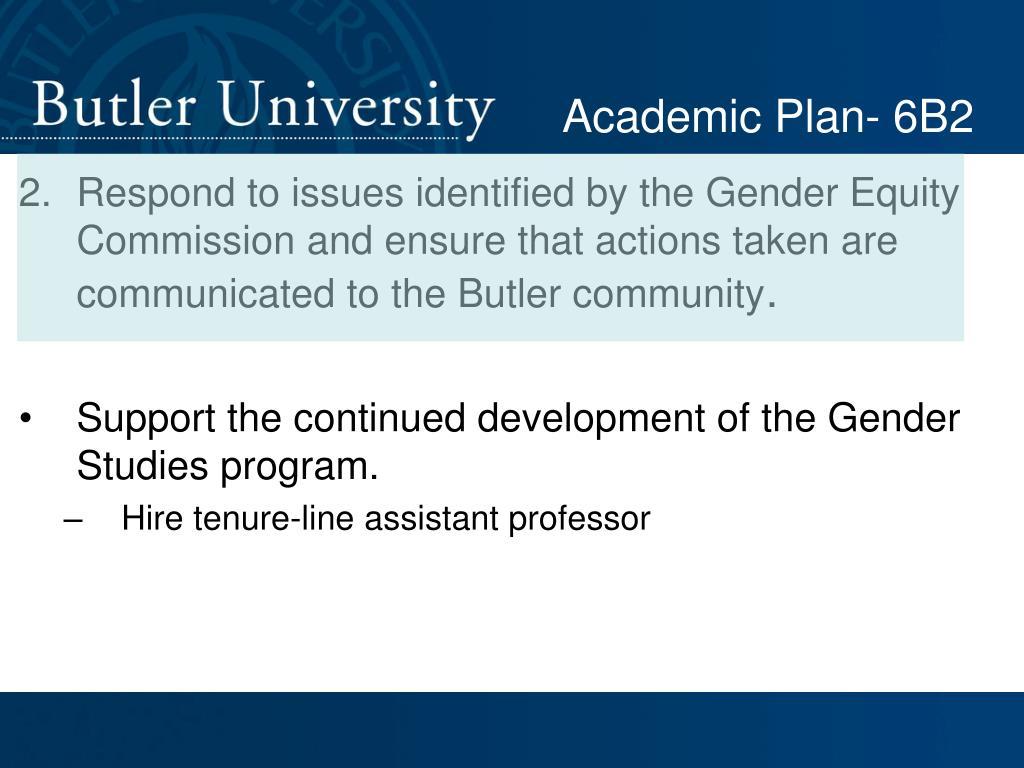 Academic Plan- 6B2