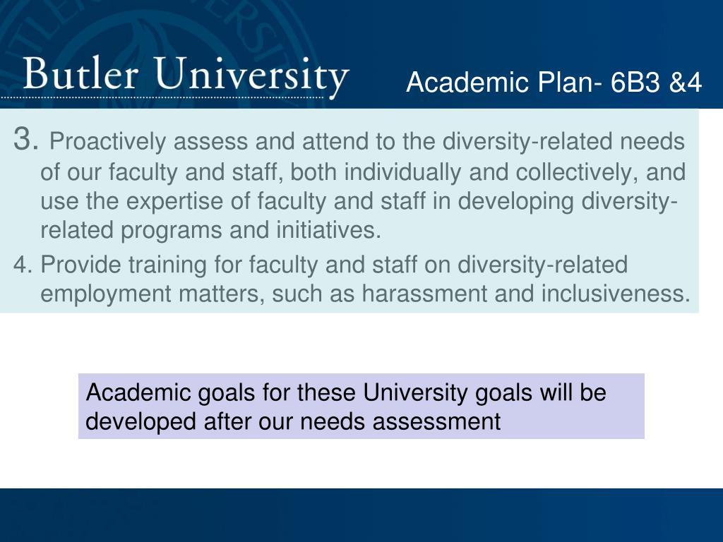 Academic Plan- 6B3 &4