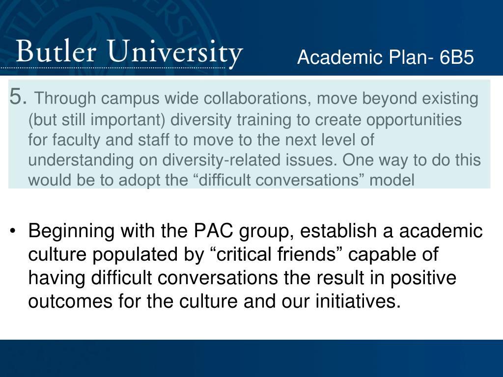 Academic Plan- 6B5