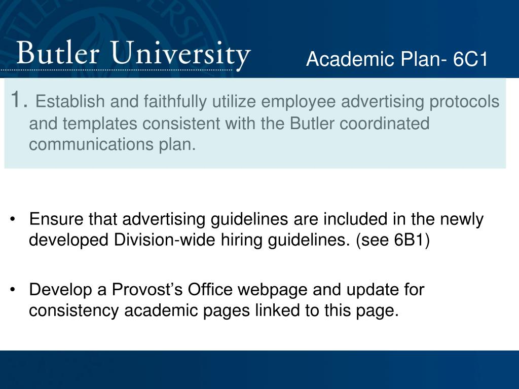 Academic Plan- 6C1