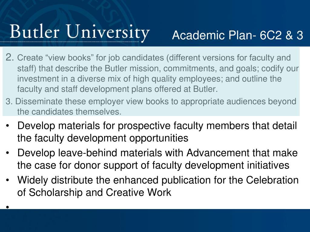 Academic Plan- 6C2 & 3