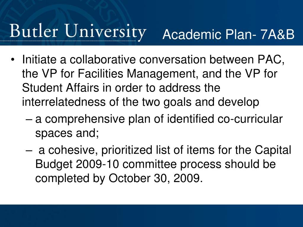 Academic Plan- 7A&B
