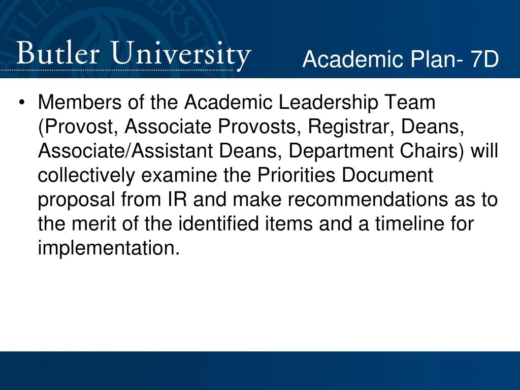 Academic Plan- 7D