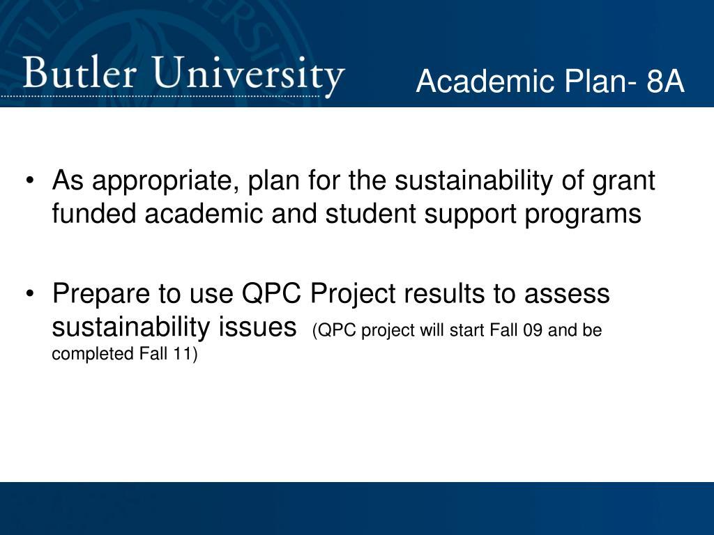 Academic Plan- 8A