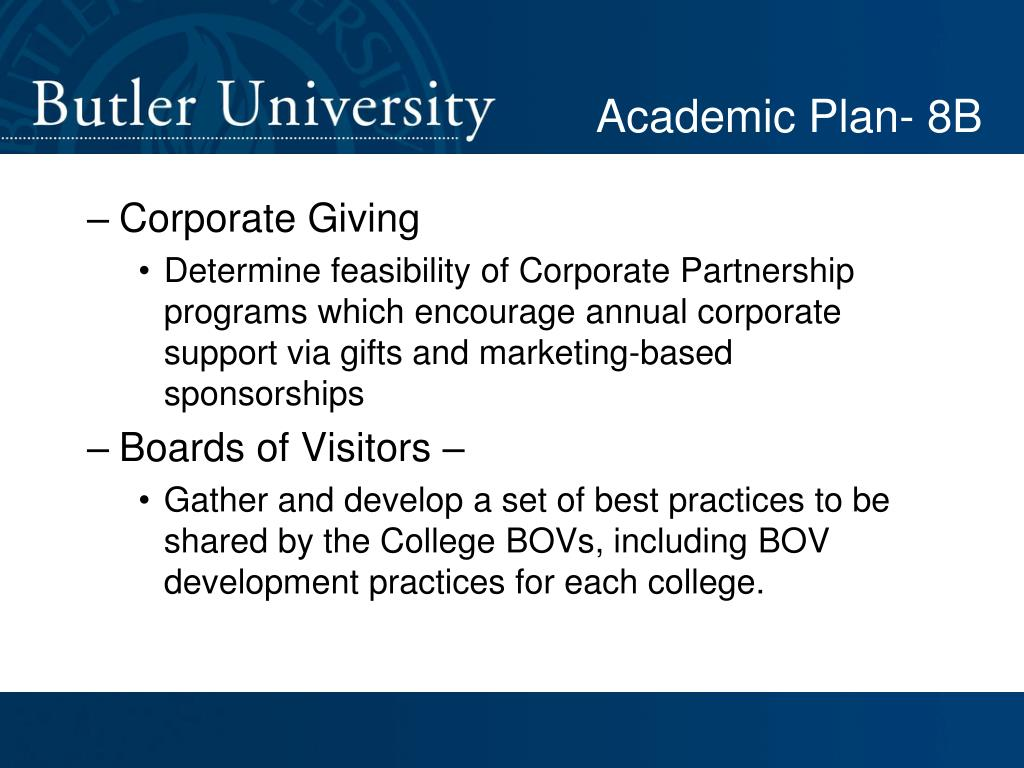 Academic Plan- 8B