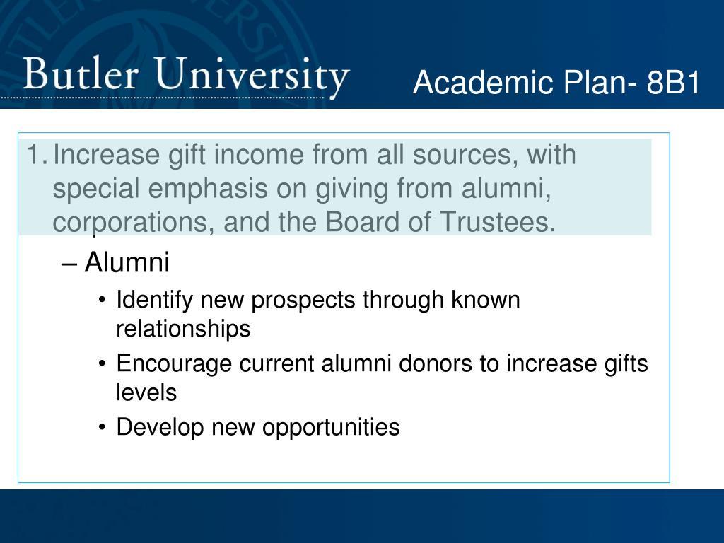 Academic Plan- 8B1