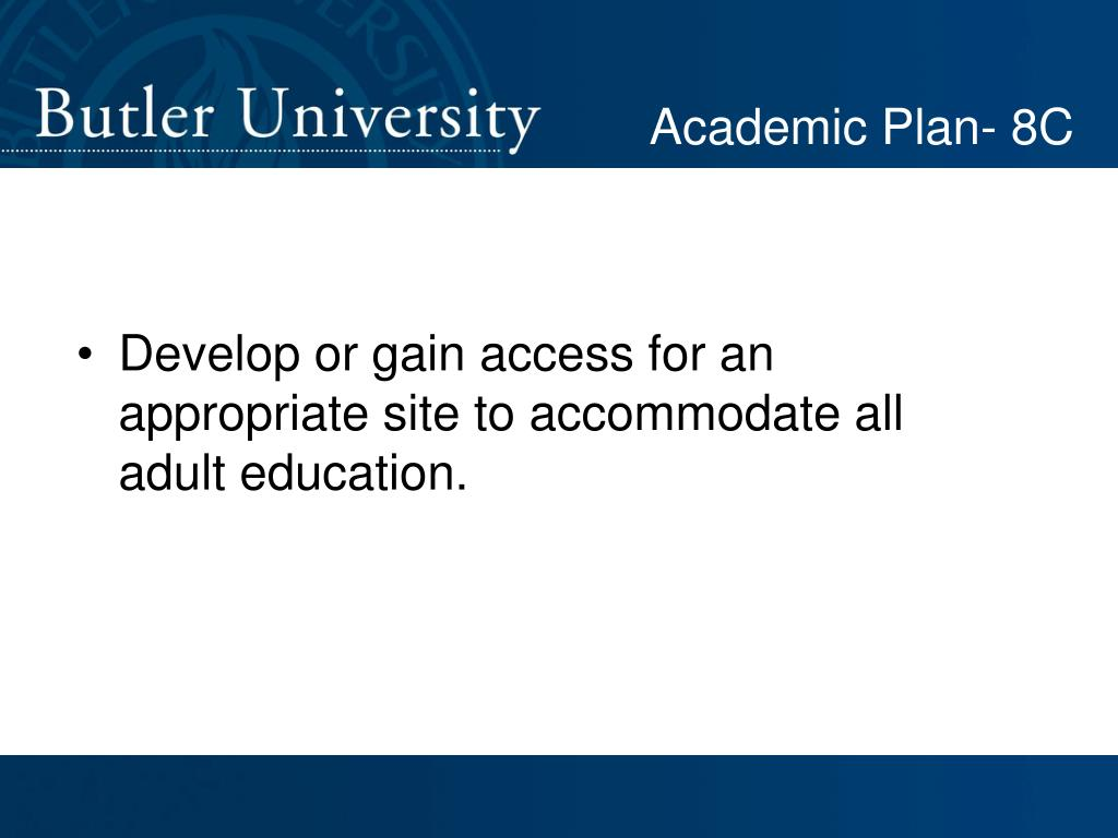 Academic Plan- 8C