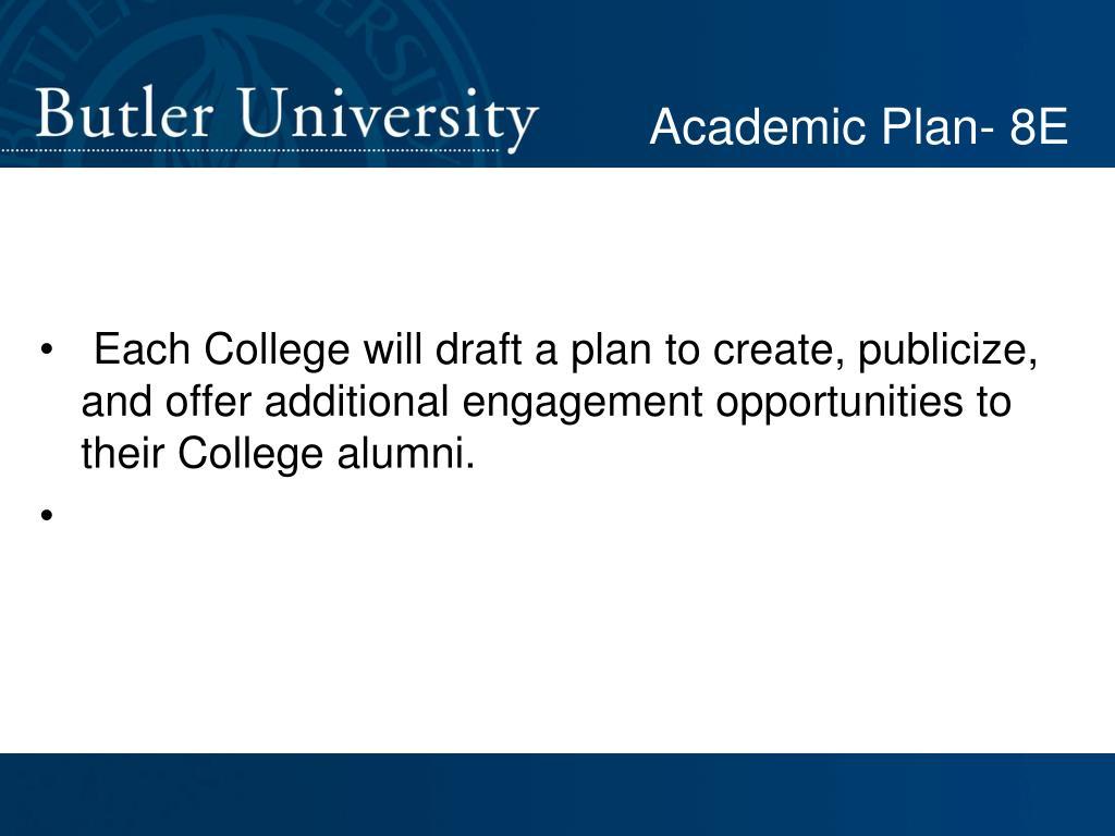 Academic Plan- 8E