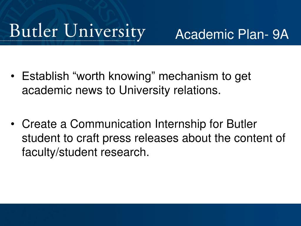 Academic Plan- 9A