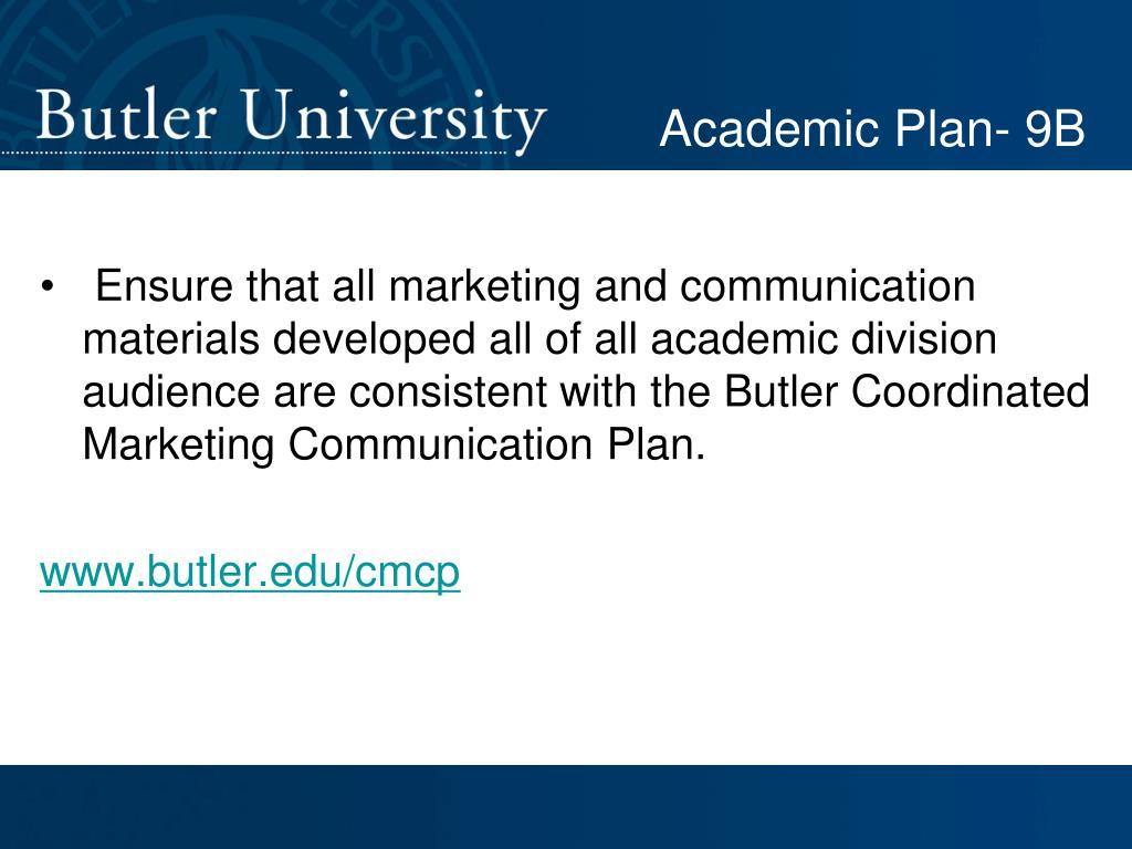 Academic Plan- 9B