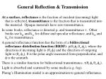 general reflection transmission