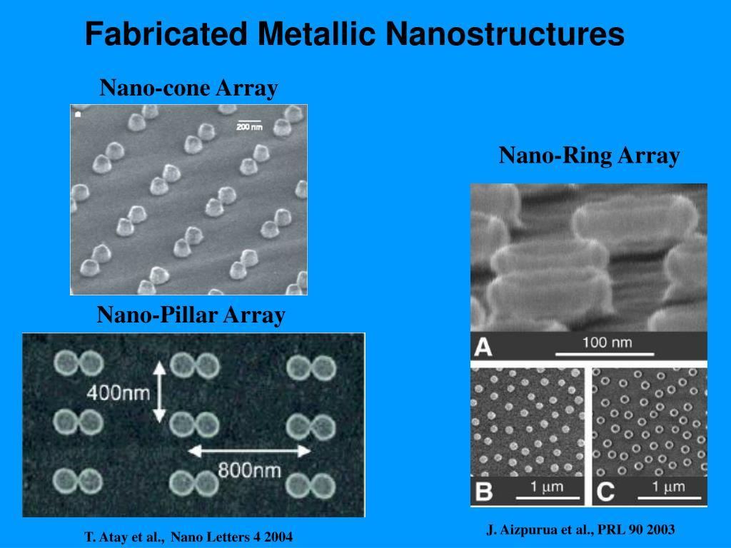 Fabricated Metallic Nanostructures