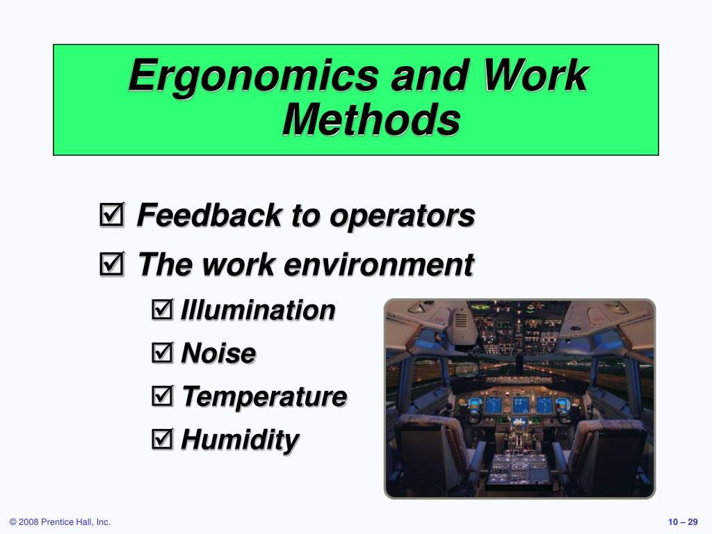 Ergonomics and Work Methods