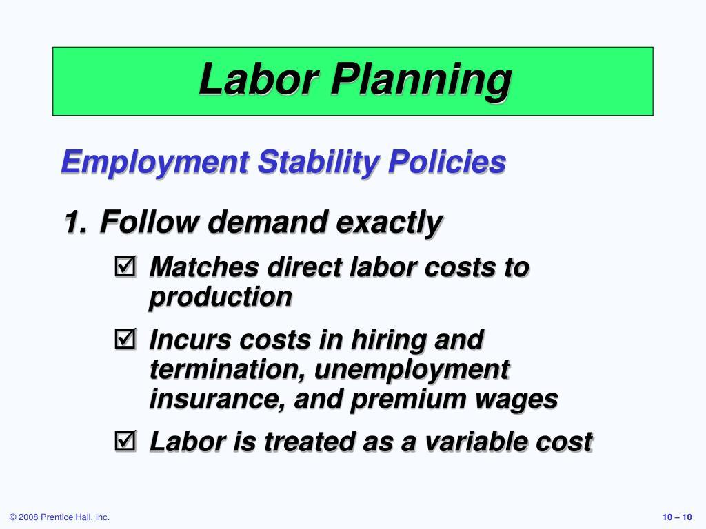 Labor Planning