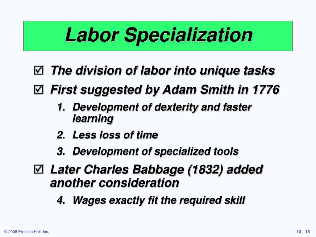 Labor Specialization
