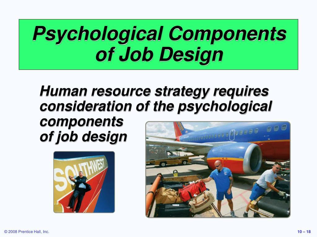 Psychological Components of Job Design