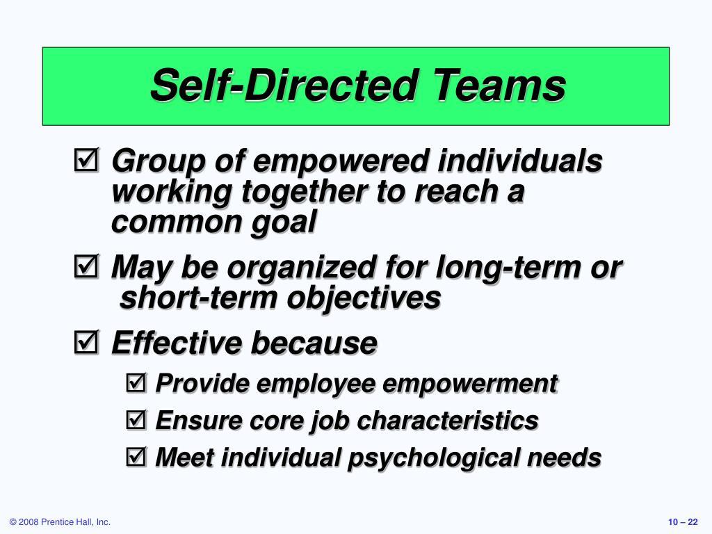 Self-Directed Teams