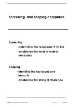 screening and scoping compared