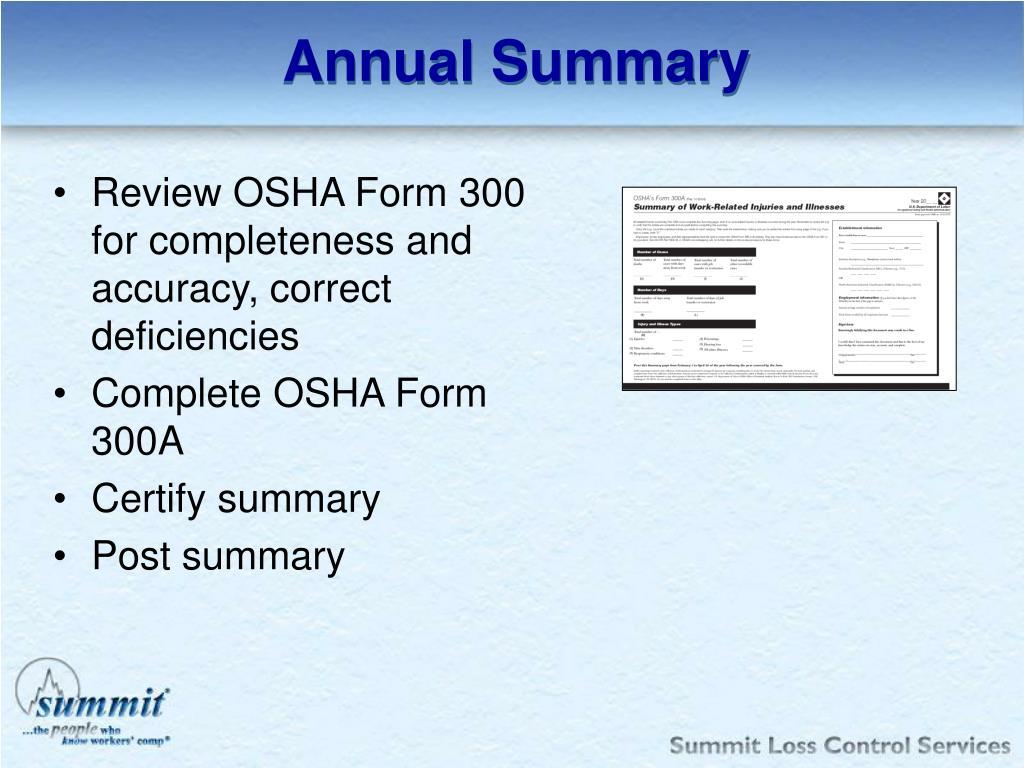 Annual Summary