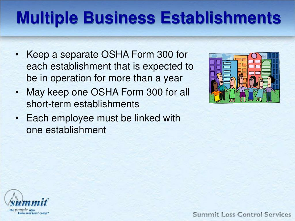 Multiple Business Establishments