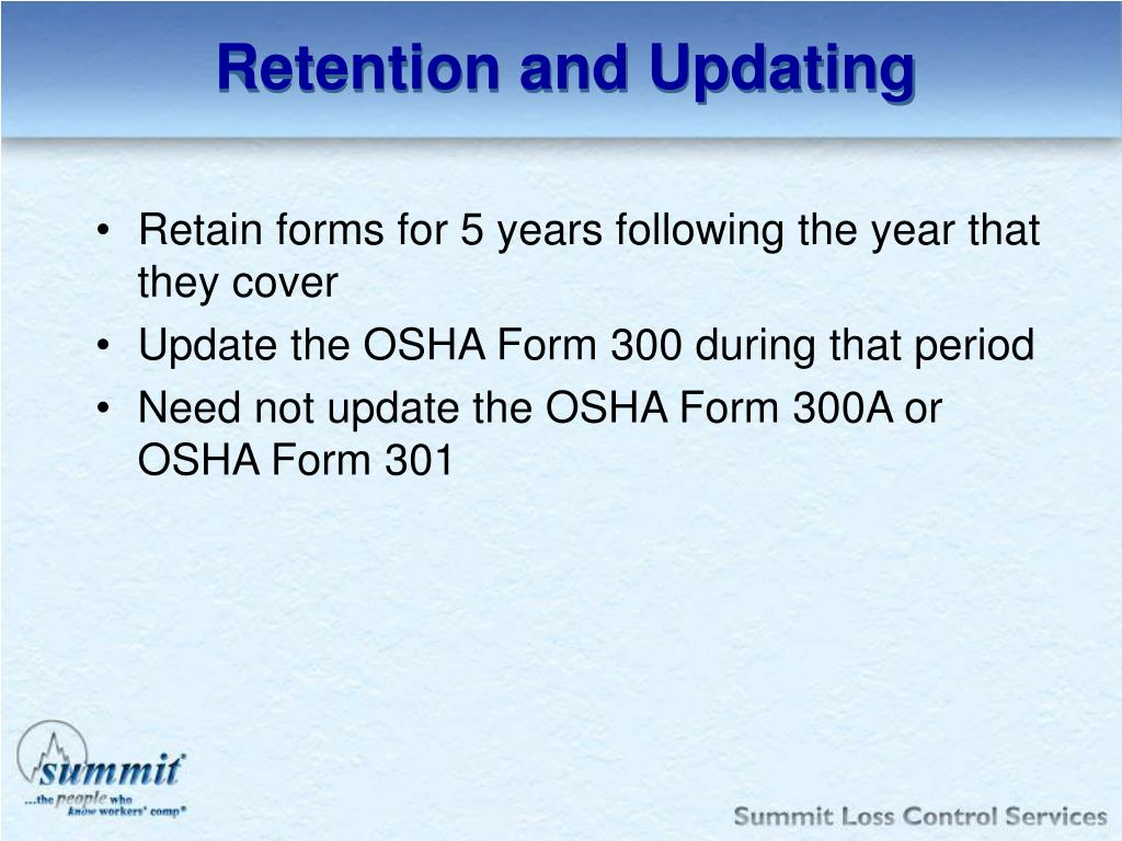 Retention and Updating