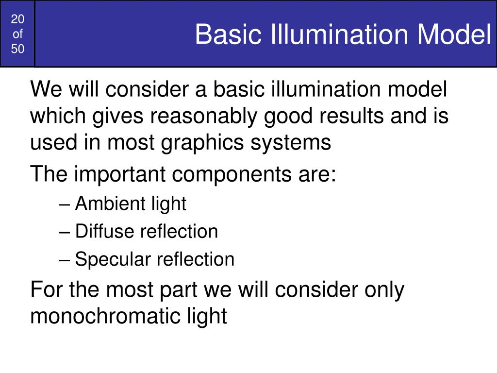 Basic Illumination Model
