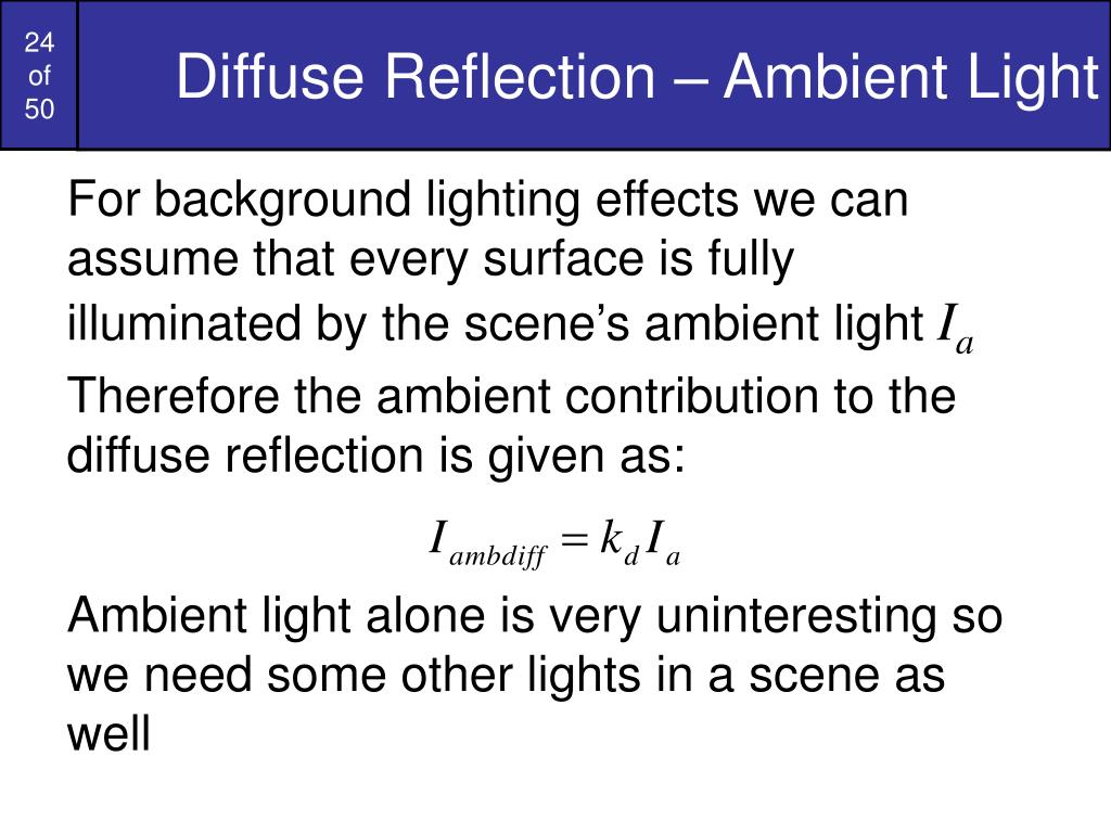 Diffuse Reflection – Ambient Light