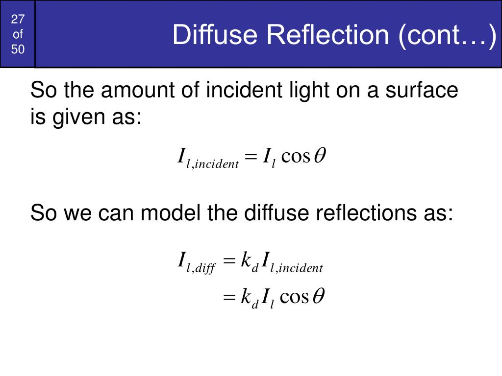 Diffuse Reflection (cont…)