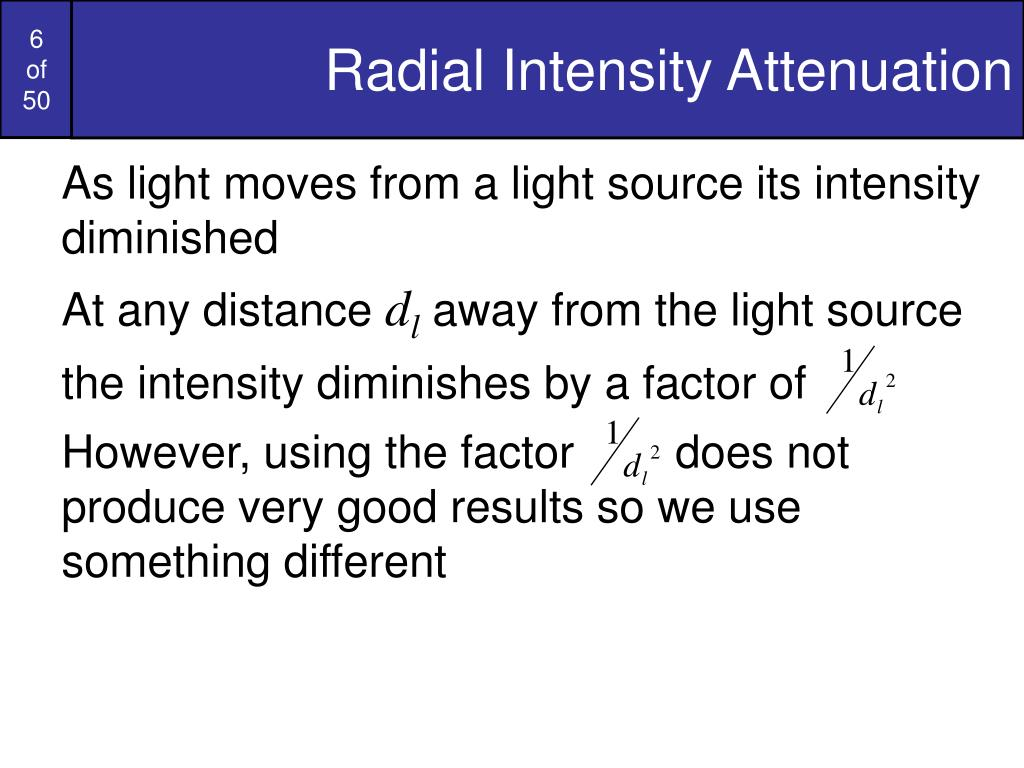 Radial Intensity Attenuation