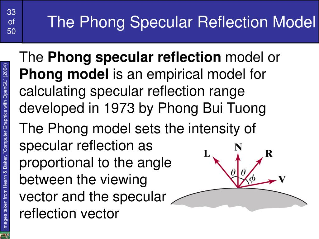 The Phong Specular Reflection Model