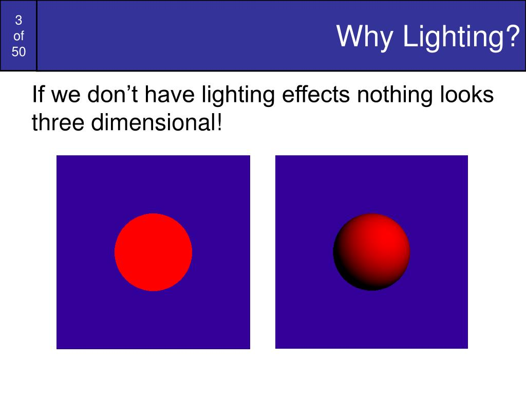 Why Lighting?