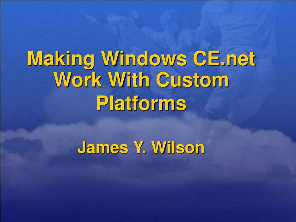 Making Windows CE.net Work With Custom Platforms