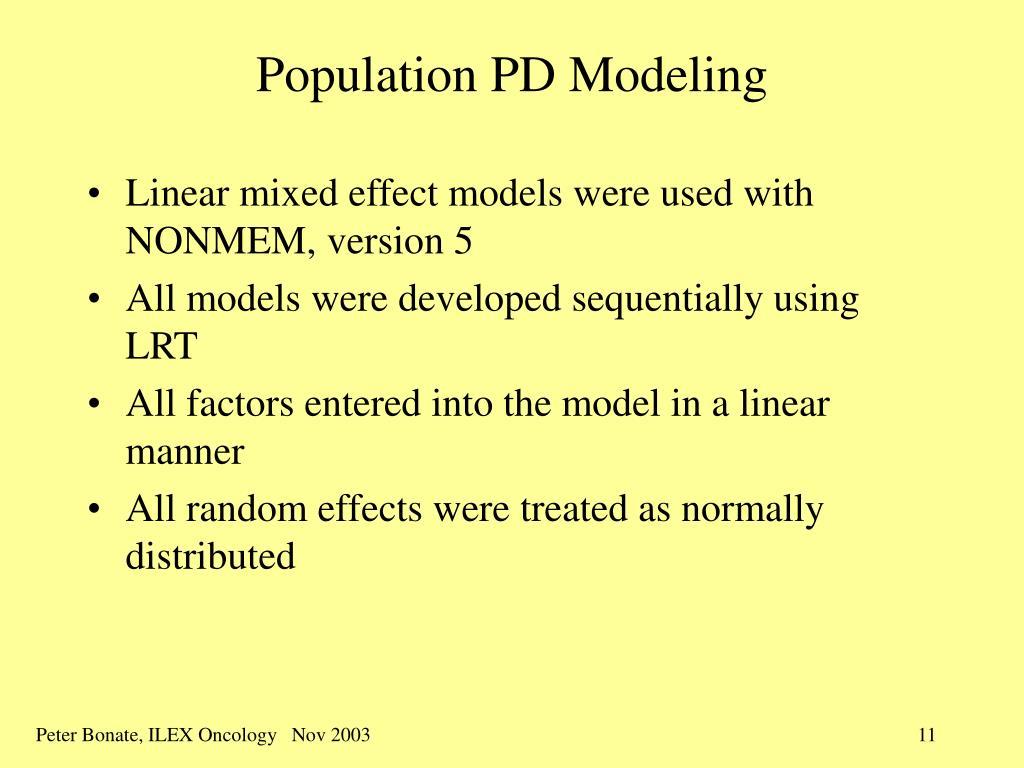 Population PD Modeling