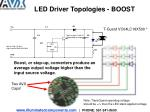 led driver topologies boost
