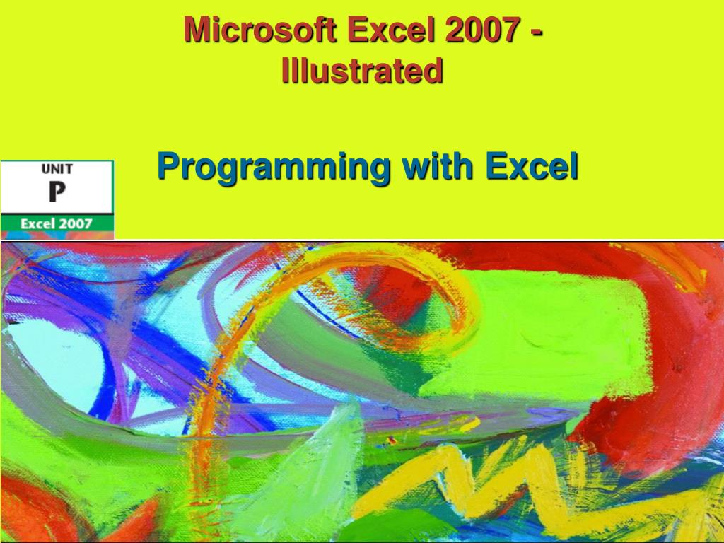 microsoft excel 2007 illustrated