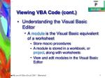 viewing vba code cont7