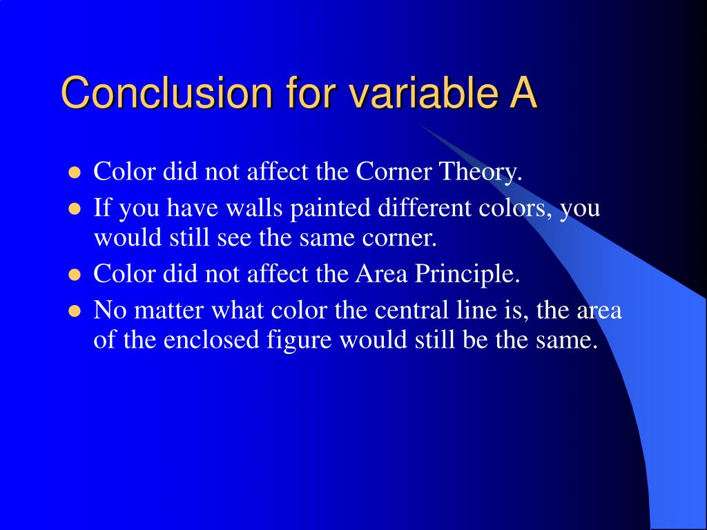 Conclusion for variable A